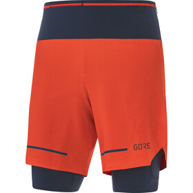 GORE WEAR Ultimate 2in1 Shorts Men, fireball/orbit blue